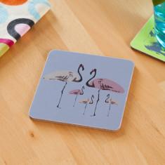 Flamingo party coasters (set of 4)