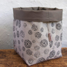 Fabric Baskets, Wildflower (black)