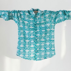 Men's shirt in goan green