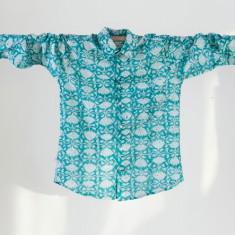 Men's shirt in goan green