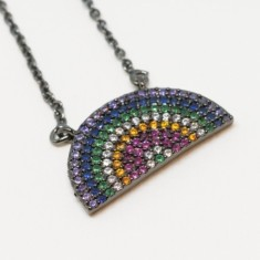 Rainbow at twilight necklace