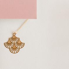Gold charleston small pendant