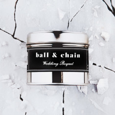 Filthy Velvet Ball & Chain - wedding bouquet scented candle