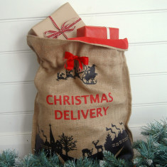 Christmas Delivery Sack in Black