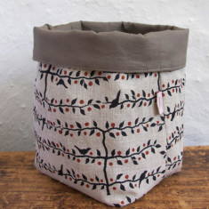 Fabric Baskets, Espalier (black/red)