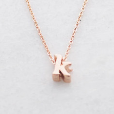 Personalised Initial necklace in rose gold