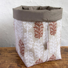 Fabric Baskets, Indian Summer (white/red)