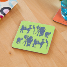 Elephant family coasters (set of 4)