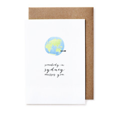 Somebody misses you greeting cards (pack of 5)