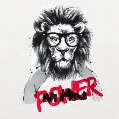 Power Lion Removable Wall Sticker