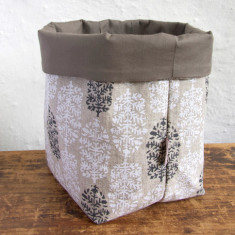 Fabric Baskets, Indian Summer (white/black)