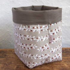 Fabric Basket, Espalier (white)