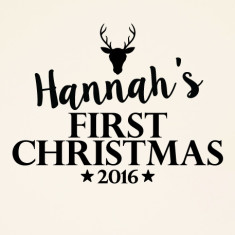 Custom Baby's Name First Christmas Wall Sticker
