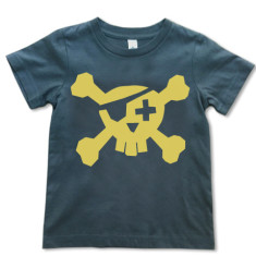 Pirate t-shirt in gold on grey