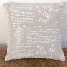 Cushion, Latin Herbal (white)