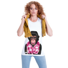 Female Monkey women's fitted tee