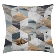 Beach collage scatter cushion