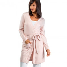 Organic pima cotton cardigan & robe in dusty rose