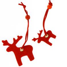 Christmas reindeer felt present toppers