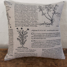 Cushion, Latin Herbal (black)