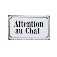 Attention au chat (Beware of cat) sign