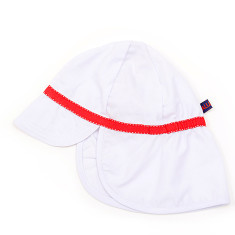 Kids' sun hat white with red