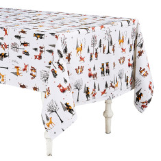 Animal Jamboree Cotton Tablecloth