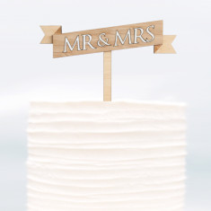 Cake topper Mrs and Mrs