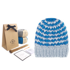 Reversible Ski Hat Knitting Kit