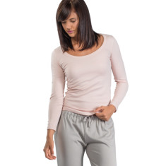 Organic pima cotton long sleeve t-shirt in dusty pink