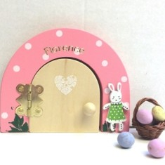 Easter bunny fairy door