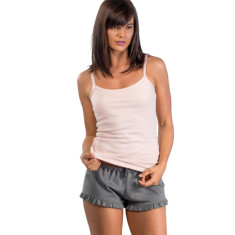 Organic pima cotton frill short in French grey