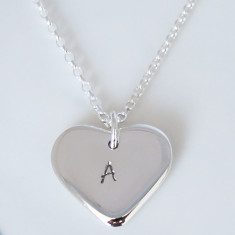 Personalised Love Heart 9ct Gold Necklace