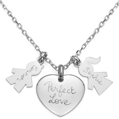 Personalised lovers necklace
