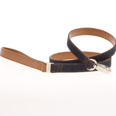 Denim dog leash