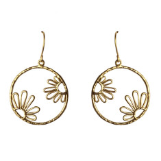 Hollow flowers earrings in silver or gold