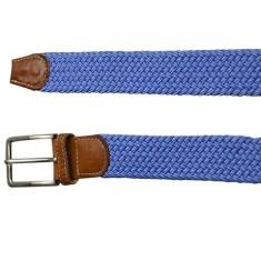 Woven elastic belt in light blue