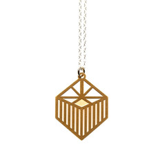 Gold small liberty pendant