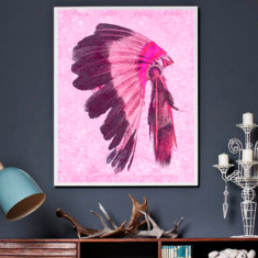 Indio pink ready to hang canvas art