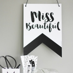 Double sided miss beautiful wall banner