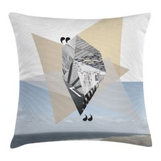 Beach cube collage scatter cushion