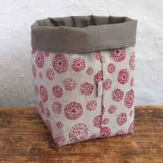 Fabric Baskets, Wildflower (red)