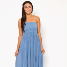 Elastic floor-length dress in Baltic