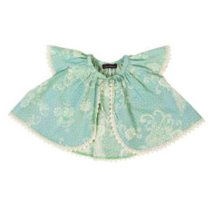 Girls' paisley peacock cotton cape