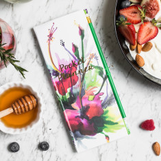 Floral Pocket Planner with Peel and Stick Notebooks