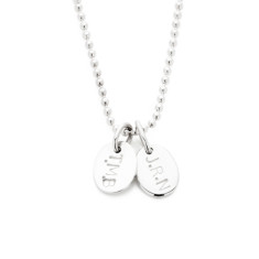 Sophie personalised sterling silver pendant