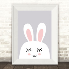 Sleeping Bunny Rabbit Print