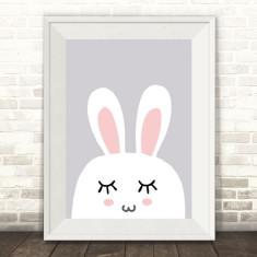 Sleeping Bunny Rabbit Print