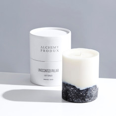 Light Terrazzo Pillar Candle 330g - Unscented