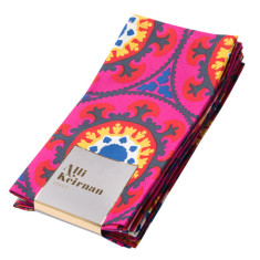 Moroccan pink napkins (pack of 6)